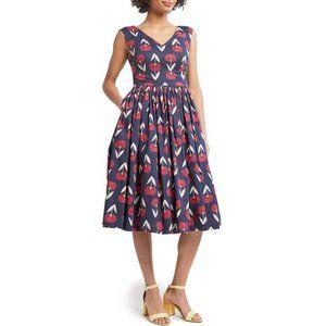 NWT Modcloth Fabulous Fit & Flare Flower Dress 12